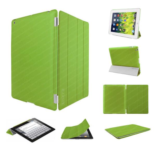 Green Ultra Slim Smart Case for iPad 2/3/4 + Stylus + Screen Protector