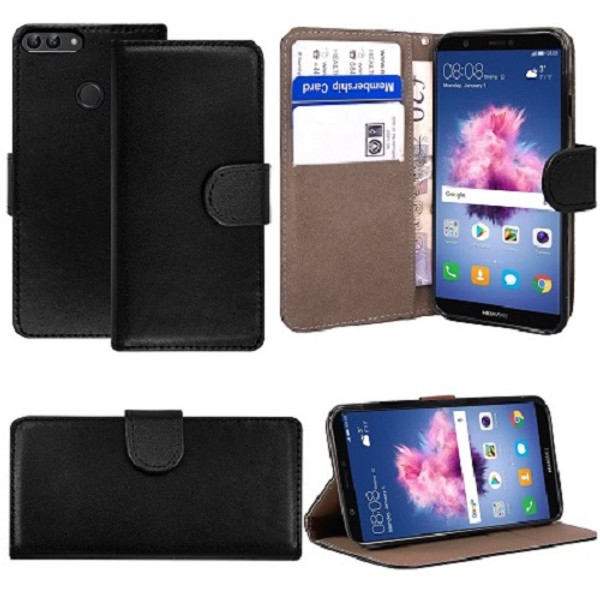 Huawei  P20 Pro  Pu Leather Black Stand Case