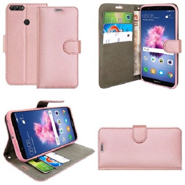 Huawei  P20 Pro  Pu Leather Rose Gold Stand Case
