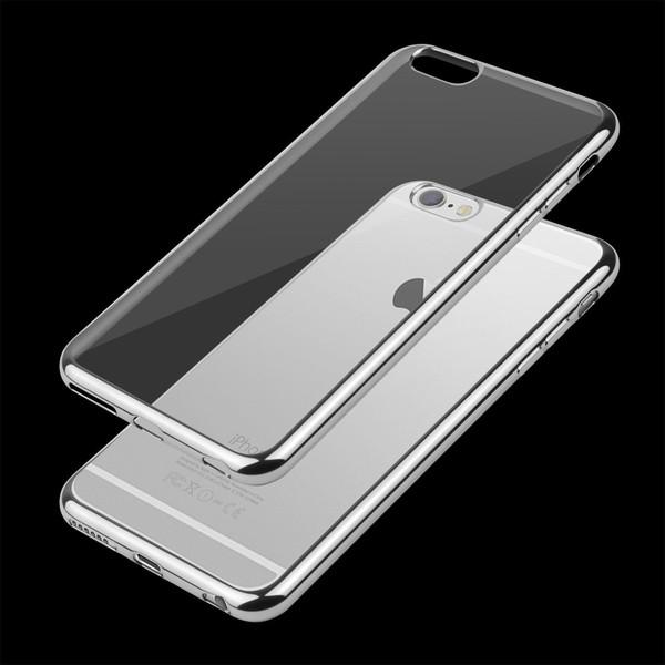iPhone 7  TPU Gel Crystal Clear Silver  Back Case