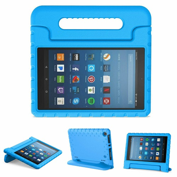 Kindle fire HD 7 (2017)  Blue Kids Builder Shockproof Eva Foam Stand Case