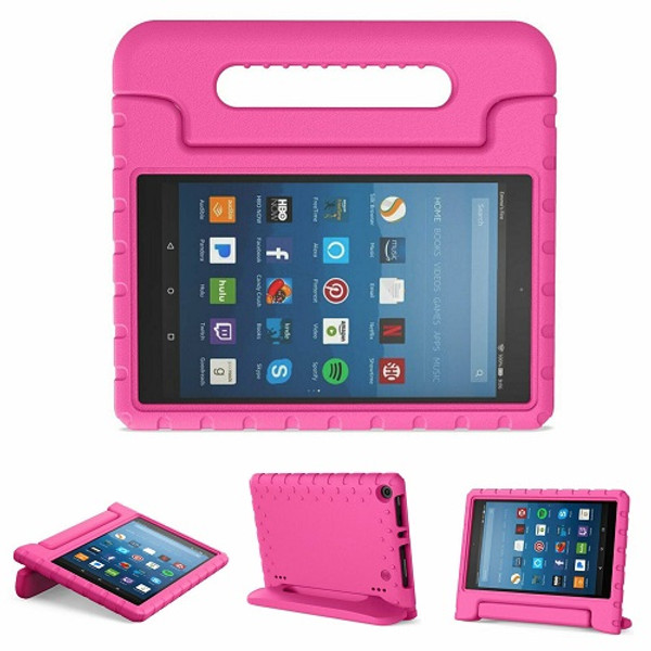 Kindle fire HD 7 (2017) Pink Kids Builder Shockproof Eva Foam Stand Case