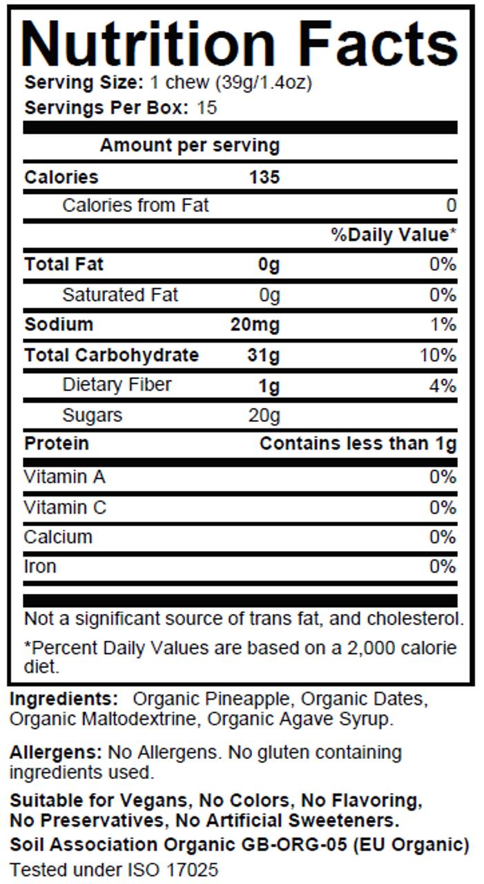 TORQ Energy Chew - Organic Pineapple 15ct Box