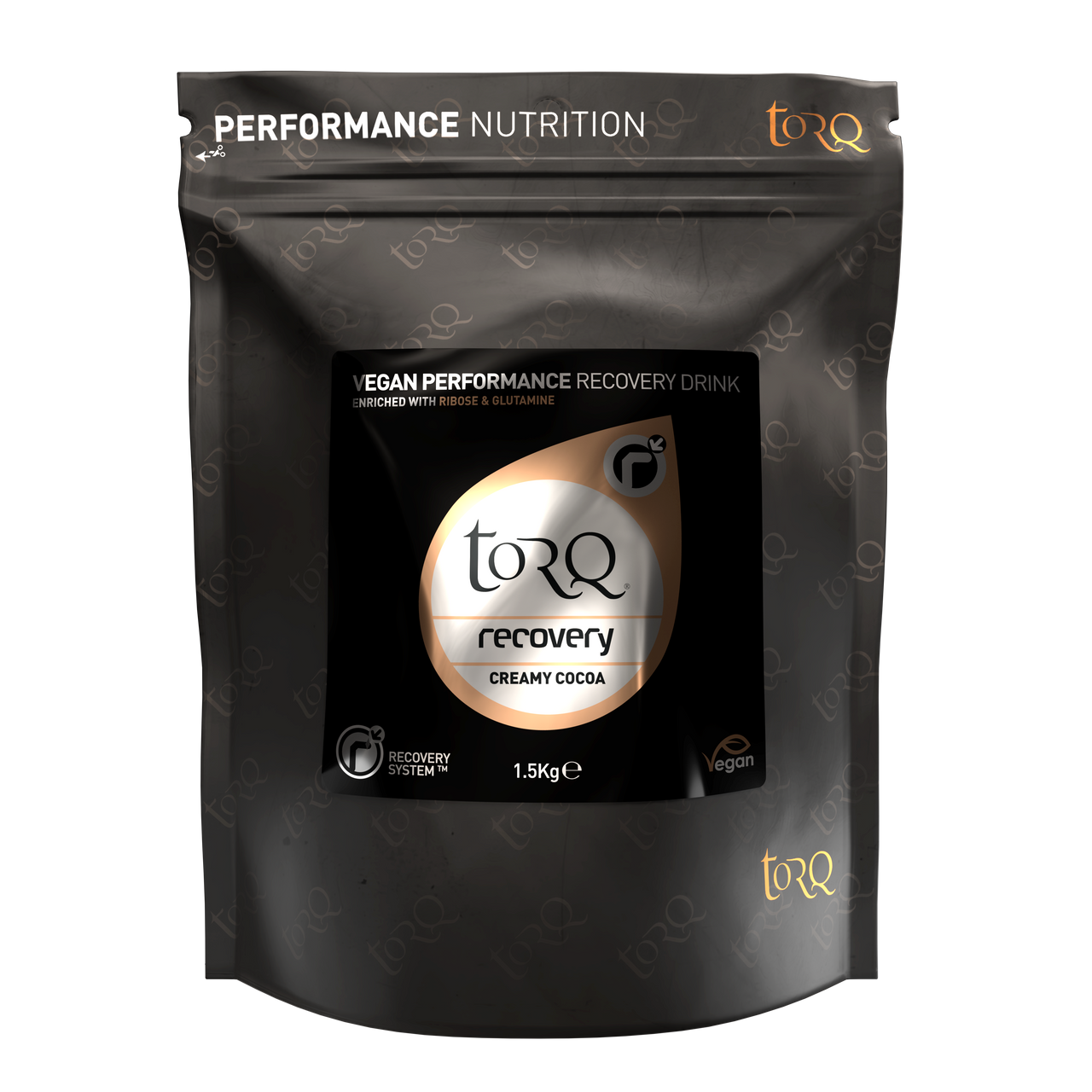 TORQ Vegan Recovery Drink - Creamy Cocoa - 15 Serving Pouch