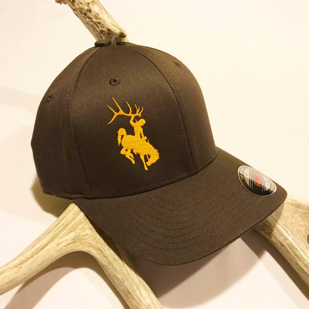 Bucking Horse Brown & Gold Flexfit