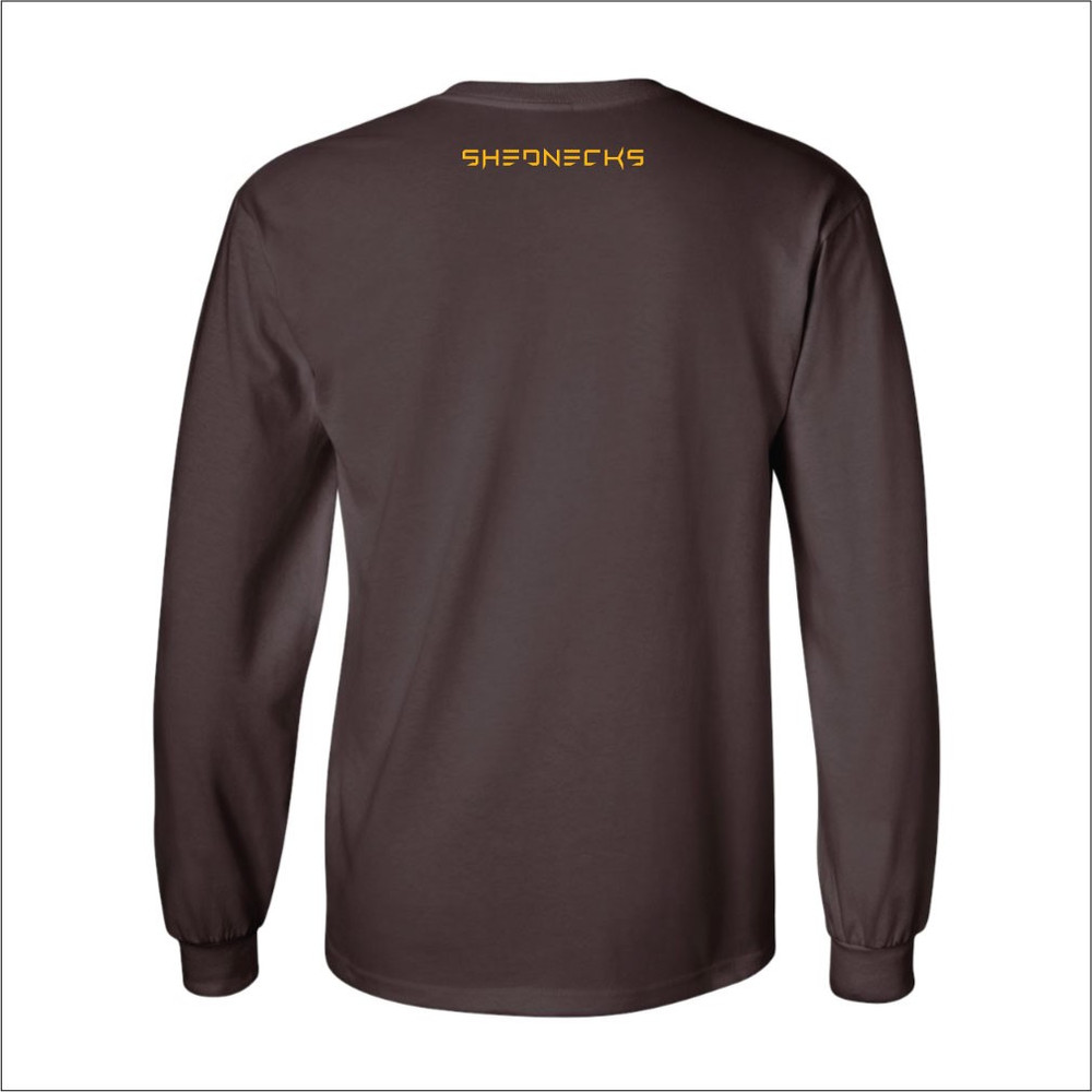 Brown and Gold Bucking Horse Longsleeve Tee