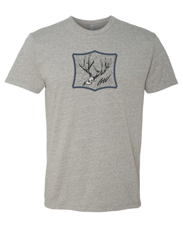 Get Western Gray / Navy 'Booner' Muley T Shirt