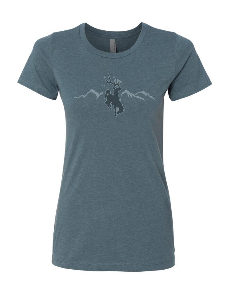 Women's Indigo Rocky Mtn T-Shirt