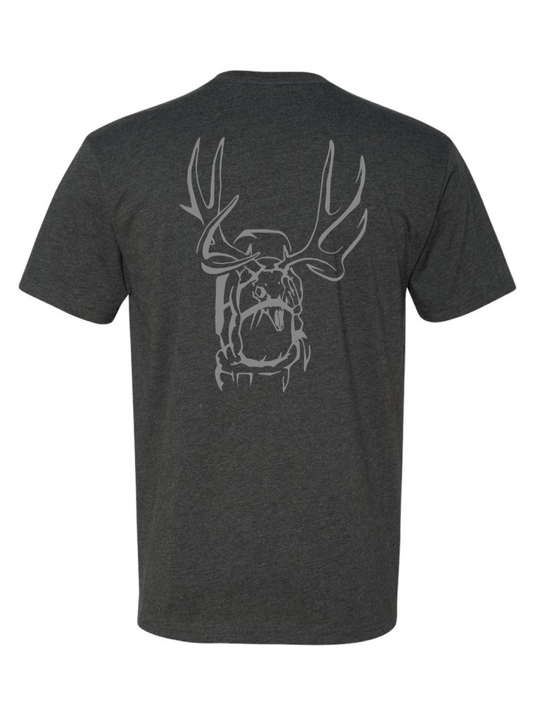 Get Western 'Tagged Out' Muley T-Shirt - Charcoal/Stone Gray