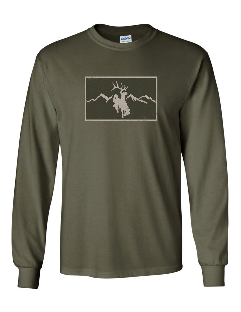 Rocky Mt Patch Long Sleeve - Olive Green