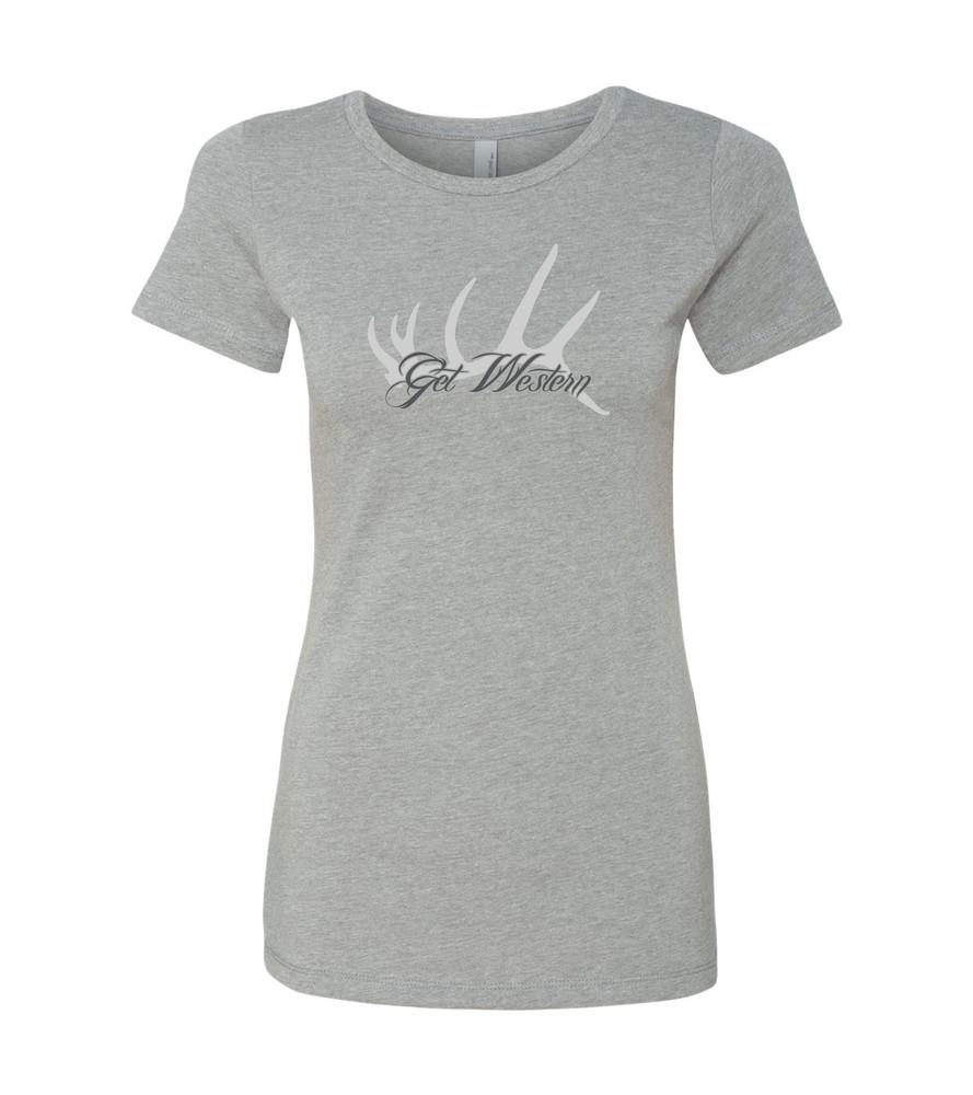 Women's Get Western Elk Shed T Shirt