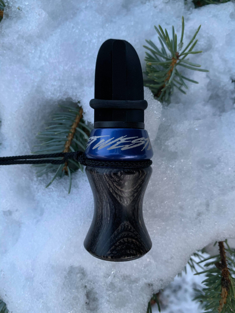 Phelps E-Z Estrus Cow Elk Call - Charcoal/Blue - Front