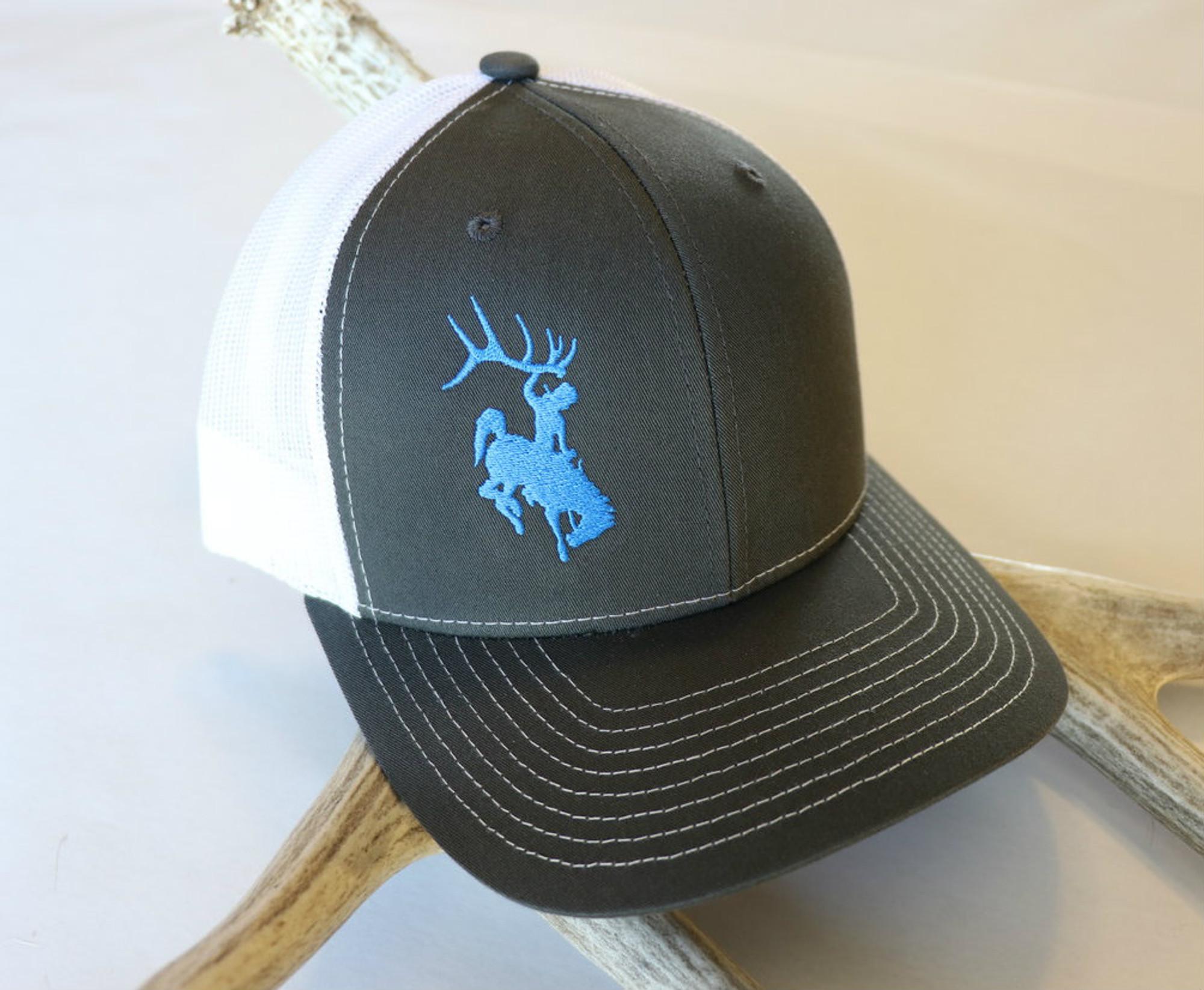 Blue & Grey & White Bucking Horse Hat