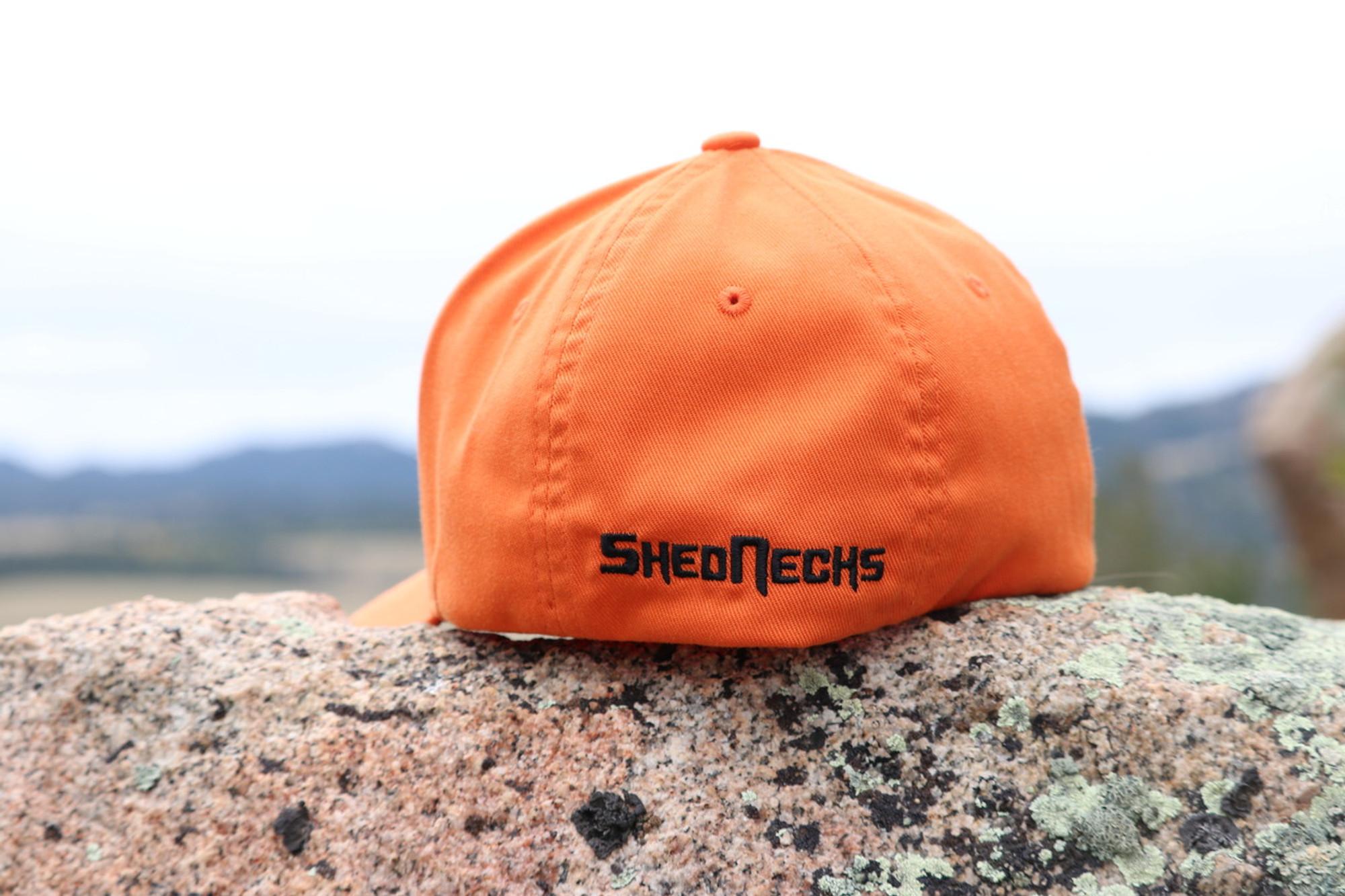 3c9e40f7eb ... Orange and Black Bucking Horse Flexfit Hat