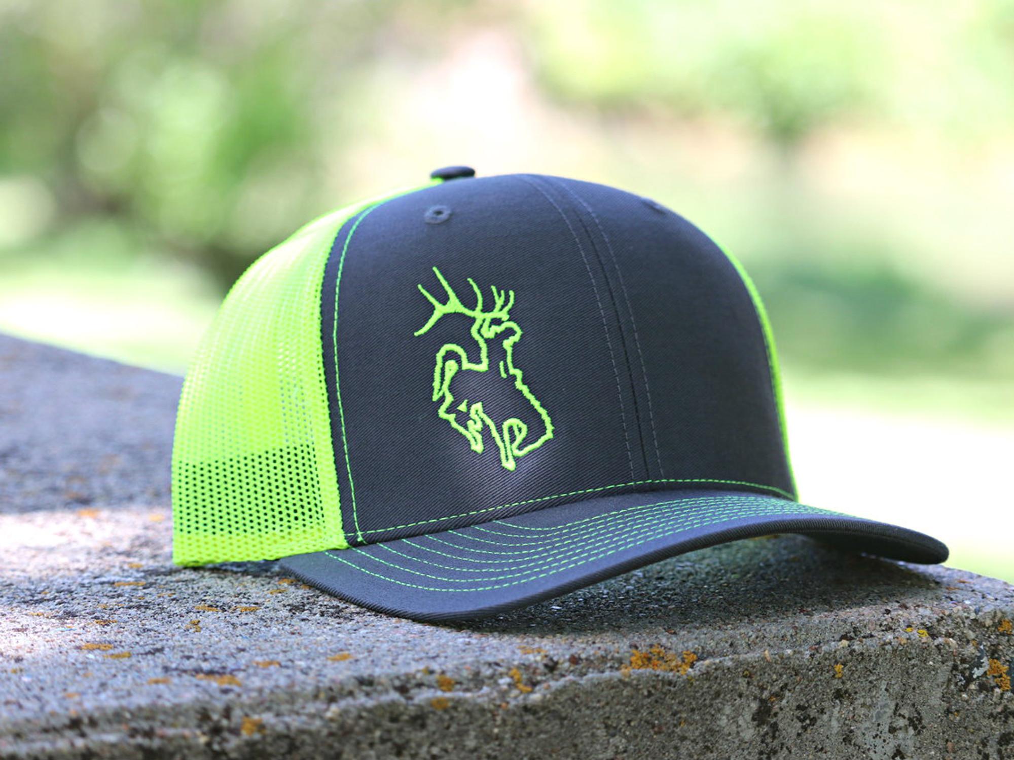 2502a879 Bucking Horse Edge - Gray and Neon Green - ShedNecks