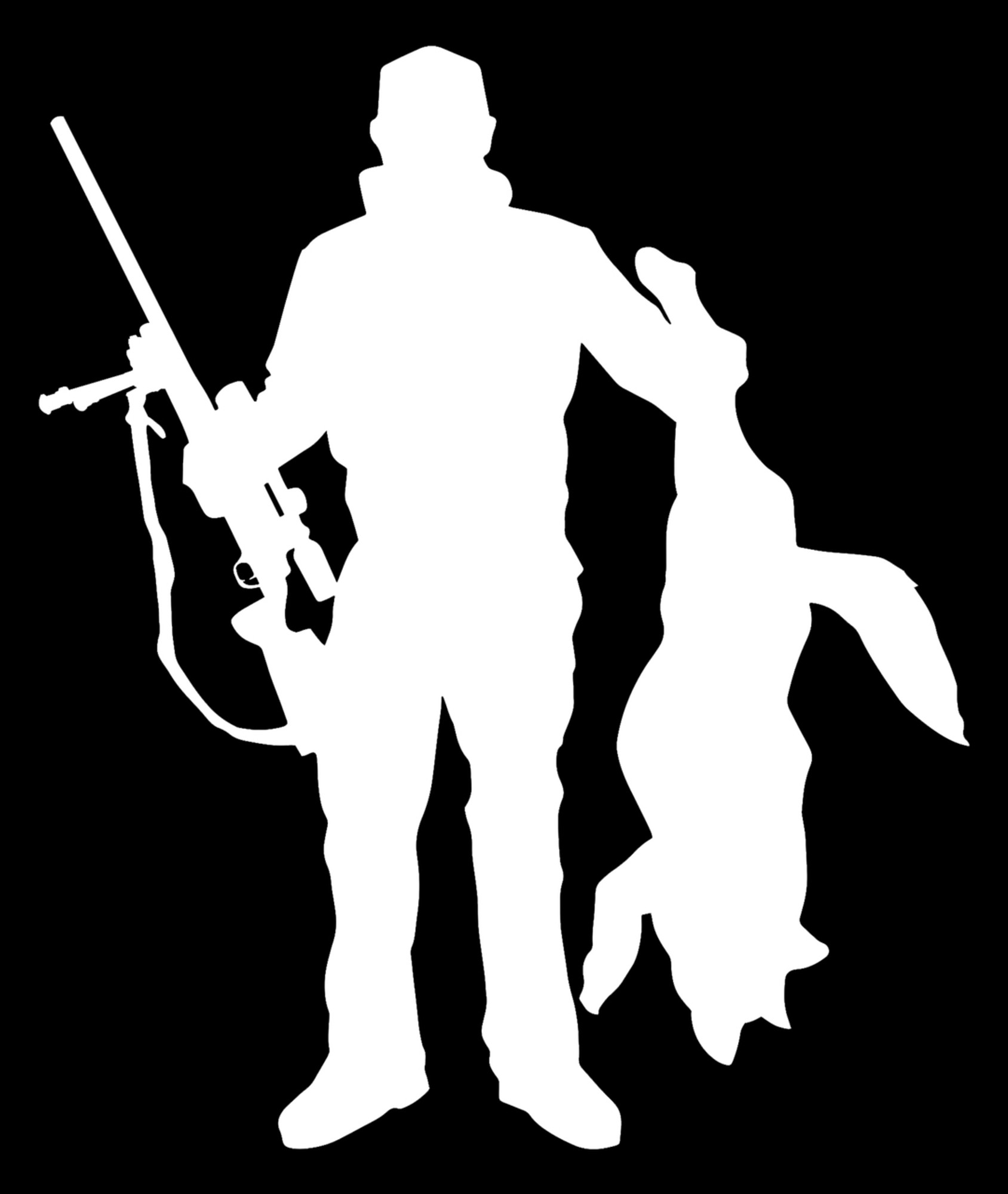 Coyote hunter decal sticker