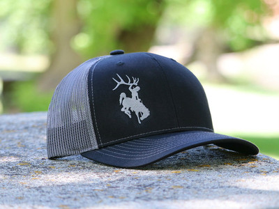 Bucking Horse Black & Silver Hat