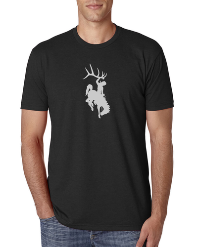 Black Bucking Horse Shirt