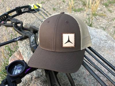 3 Blade Pass Thru Leather Patch Hat (Grey/White) - ShedNecks