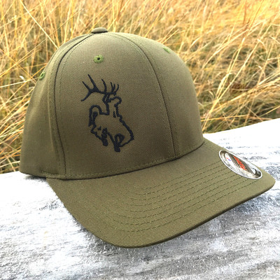ShedNecks Edge - Olive Green Flexfit Hat