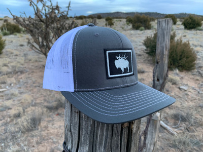 """Pack Buff"" Stitched Patch Hat - Charcoal/White"