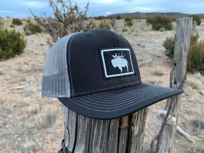 """Pack Buff"" Stitched Patch Hat - Black & Charcoal"