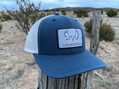 Get Western Moose Patch Hat - Navy/Aluminum