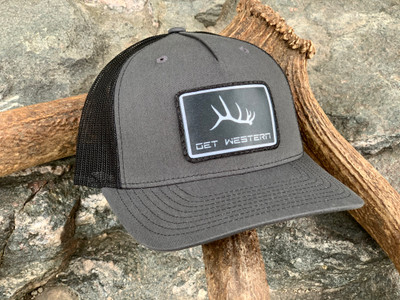 Get Western Elk Shed Patch Hat - Charcoal/Black