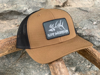 Get Western Gravedigger Elk Patch Hat - Coyote/Black