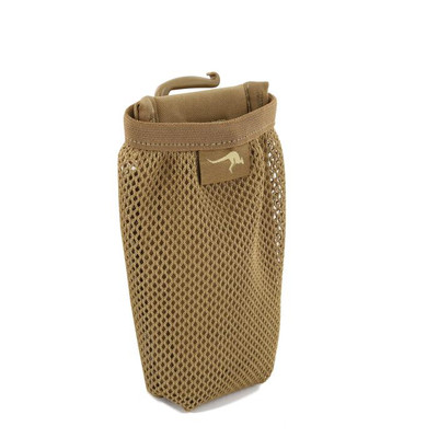 Coyote Brown - Marsupial Universal Mesh Shoulder Strap Pocket.