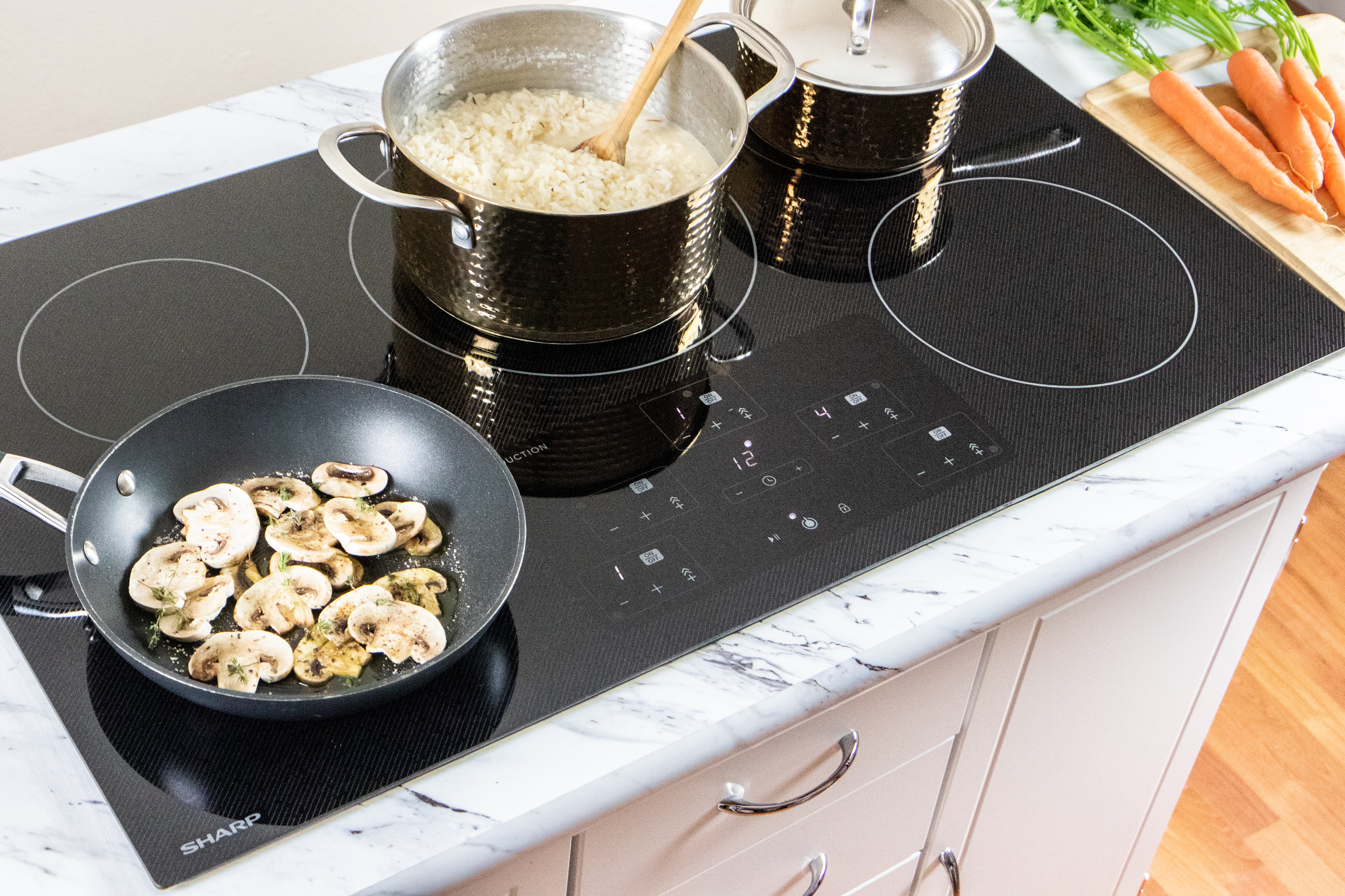"""The Sharp 36"""" Induction Cooktop Made with Premium SCHOTT® Glass (SDH3652DB)"""