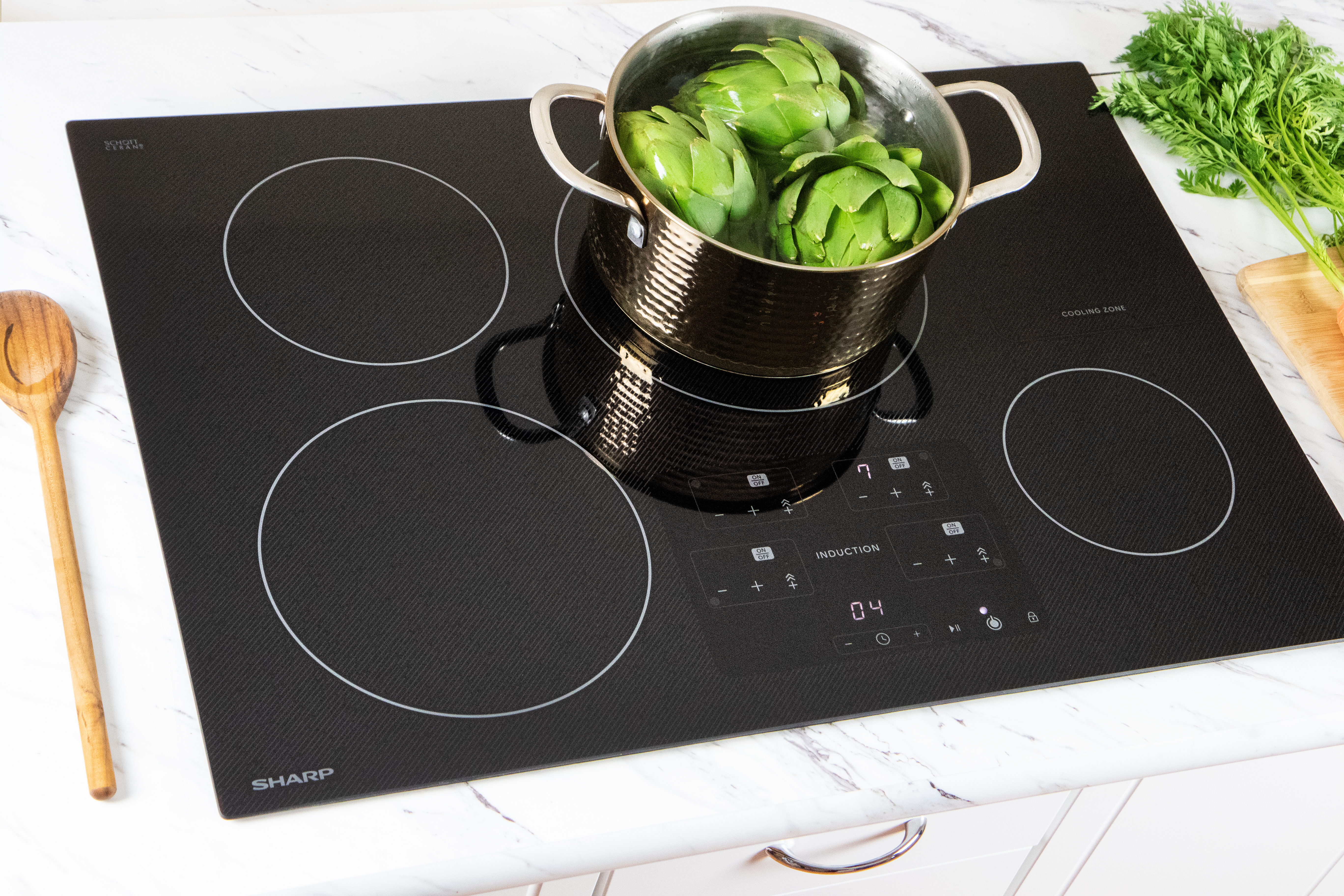 """The Sharp 30"""" Induction Cooktop Made with Premium SCHOTT® Glass (SDH3042DB)"""