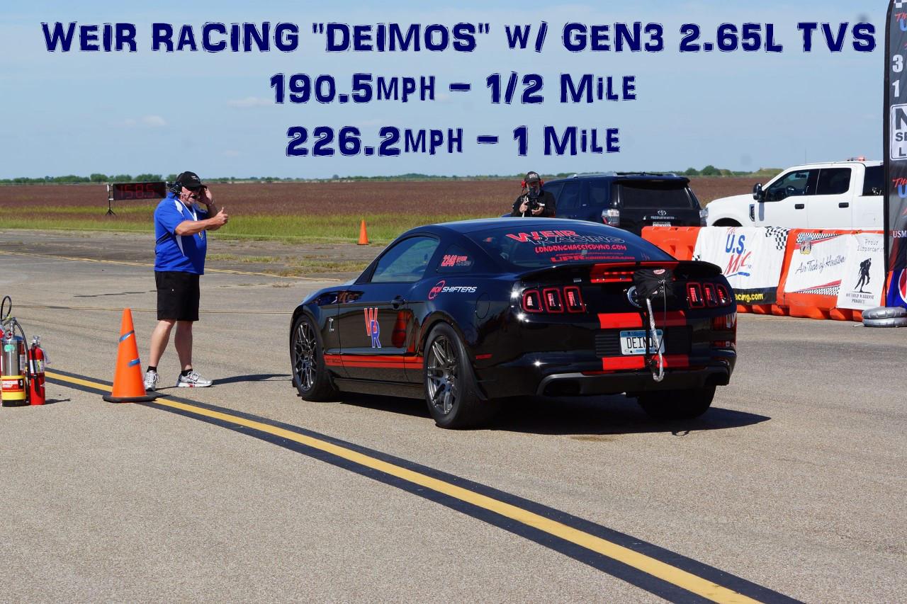 VMP Gen3 2.65L TVS Results on the World's Fastest TVS GT500 - Weir Racing Deimos