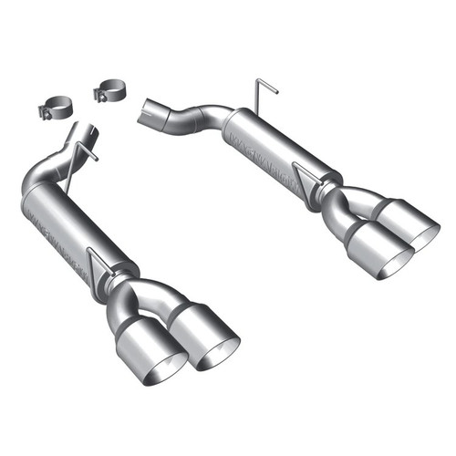 MagnaFlow 10 Ford Mustang GT V8 4.6L Dual Split Rear Exit Stainless Cat Back Perf Exhaust (PN: 15075)