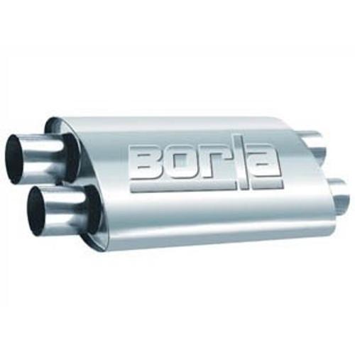 Borla 2.50in Dual In/Out 19in x 9.5in x 4in PRO-XS Muffler (PN: 400286)