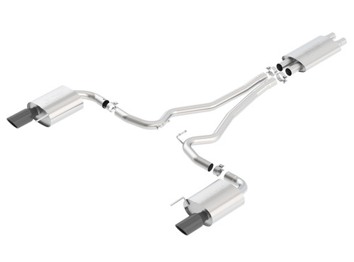 Borla Touring Cat-Back 15 Ford Mustang GT 5.0L V8 MT/AT 2.5in pipe Black 4in tip (PN: 140589BC)