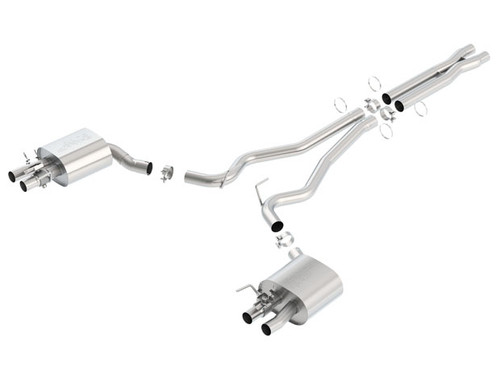 Borla 15-16 Ford Mustang Shelby GT350 5.2L ATAK Cat Back Exhaust (Uses Factory Valence) (PN: 140684)