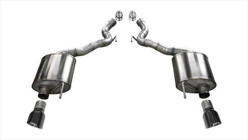 Corsa 15-16 Ford Mustang GT Convertible 5.0L V8 Black Sport Axle-Back Exhaust (PN: 14339BLK)
