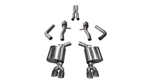 Corsa 15-17 Dodge Challenger Hellcat Dual Rear Exit Sport Exhaust w/ 3.5in Polished Tips (PN: 14987)