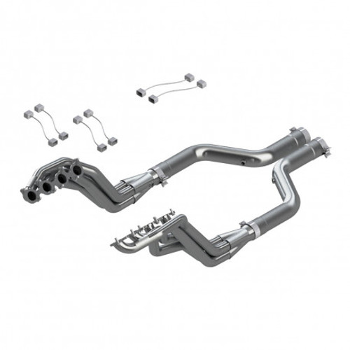 MBRP 2015 Ford Mustang GT 5.0 T304 3in Header Mid Pipe Kit (PN: S7235304) (PN: S7235304)