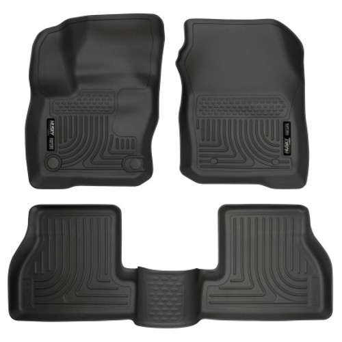 Husky Liners Weatherbeater 2016-2018 Ford Focus RS Front & 2nd Seat Floor Liners - Black (PN: 99781)