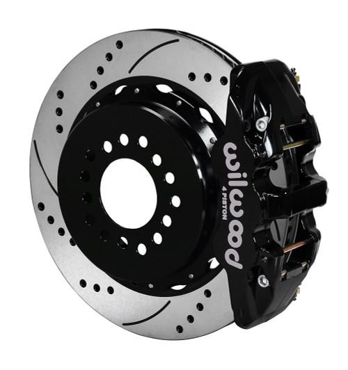 Wilwood AERO4 Big Brake Rear Parking Brake Kit - Drilled, Black (2005-2014 Mustang)