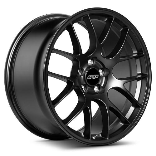"19x11"" ET52 APEX EC-7 Mustang Wheel (Satin Black) (APEX-EC71911ET52-5114-705-SMBK)"