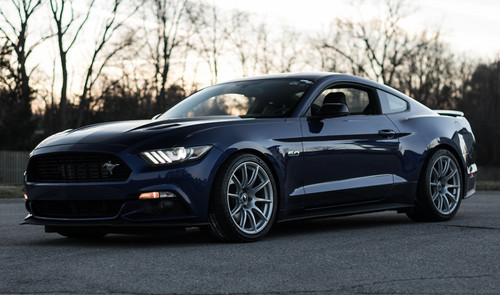Apex SM-10 Wheel on Blue S550 Mustang