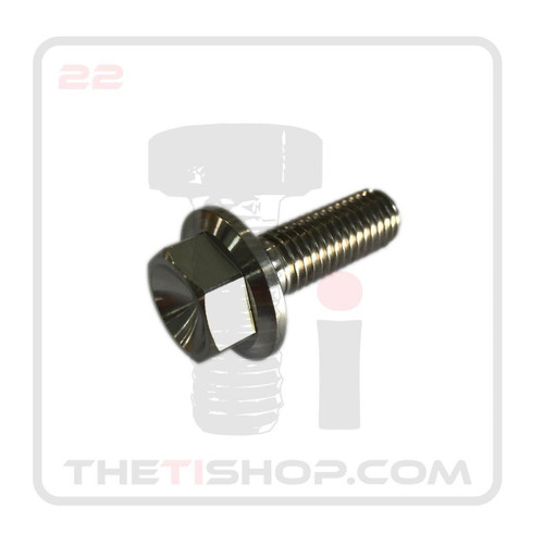 Titanium Flanged Hex Bolt M10 - 1.5 x 25mm