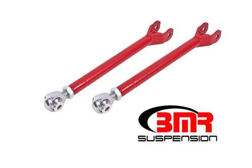 BMR 08-17 Challenger Lower Trailing Arms w/ Single Adj. Rod Ends - Red