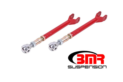 BMR 08-17 Challenger Lower Trailing Arms w/ On-Car Adj. Rod Ends - Red