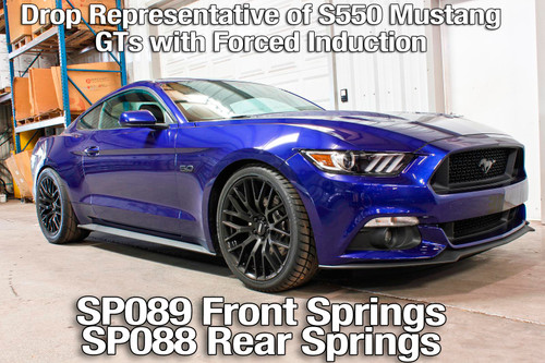 BMR 2015-2018 S550 Mustang Front Performance Version Lowering Springs - Red Color