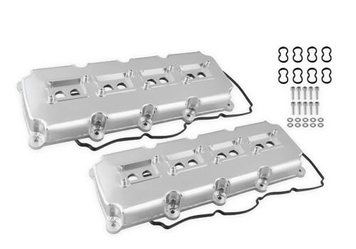 Holley Mr. Gasket Fabricated Valve Covers - Silver Finish (5.7L - 6.4L Mopar Gen III Hemi)