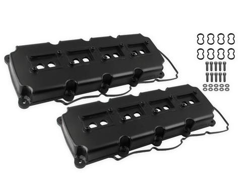 Holley Mr. Gasket Fabricated Valve Covers - Black Finish (5.7L - 6.4L Mopar Gen III Hemi)